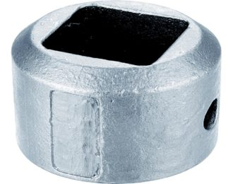 Auger drilling parts – Hex and Square hubs 1 3/4″ SQ 3 1/4″ OD
