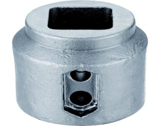Auger drilling parts – Hex and Square hubs 1 3/4″ SQ 4″ OD